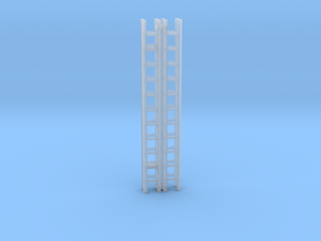 Extension Ladder 12Ft 1-87 HO Scale (2PK) in Smooth Fine Detail Plastic