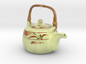 The Asian Teapot-2-mini in Coated Full Color Sandstone