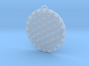 Flower of Life Pendant 2 in Smooth Fine Detail Plastic
