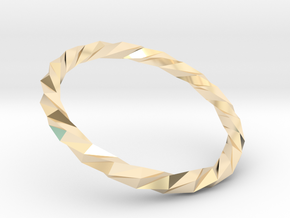 Twistium - Bracelet P=160mm Color in 14K Yellow Gold