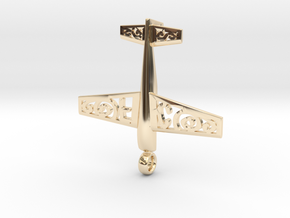 Stickxtra Pendant Flying Circus Special 50mm in 14k Gold Plated Brass