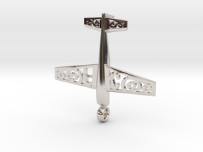 Stickxtra Pendant Flying Circus Special 50mm in Rhodium Plated Brass