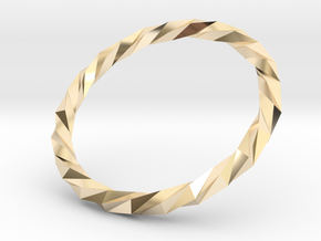 Twistium - Bracelet P=180mm Color in 14k Gold Plated Brass
