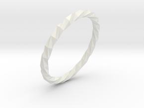 Twistium - Bracelet P=190mm Color in White Natural Versatile Plastic