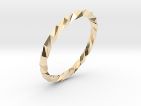 Twistium - Bracelet P=190mm Color in 14K Yellow Gold