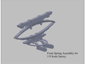 9th Scale Surrey Front Spring in White Processed Versatile Plastic