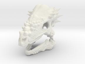 Pachycephalosaurus in White Natural Versatile Plastic