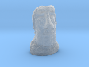 35mm scale Moai Head (Easter Island head) in Smooth Fine Detail Plastic
