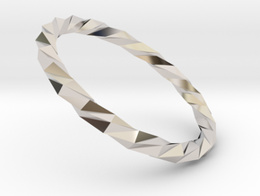 Twistium - Bracelet P=220mm Color in Rhodium Plated Brass