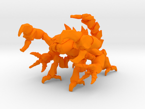 Skorbiont 003 28mm in Orange Processed Versatile Plastic