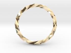 Twistium - Bracelet P=230mm Color in 14K Yellow Gold