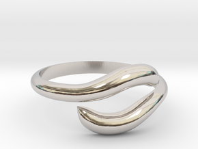 Resizable Ring Wave  in Platinum