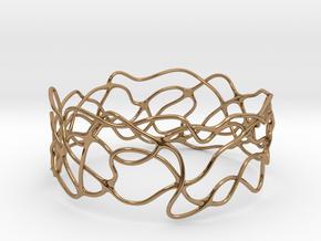 Bracelet 'Wave Length' in Polished Brass