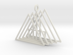 A Frame pendant in White Natural Versatile Plastic