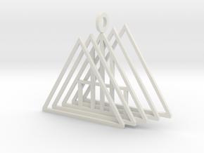 A Frame pendant in White Natural Versatile Plastic