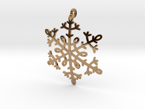 Snowflake Pendant or ornament in Polished Brass