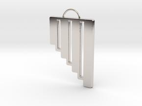 Pan Flute Pendant in Platinum