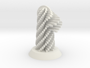 Knight Spiral in White Natural Versatile Plastic