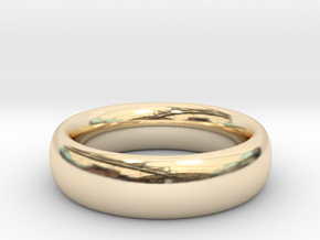 Plain Ring v1 Size11-7mm-3.2 in 14K Yellow Gold