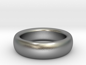 Plain Ring flat inside size11 w 7mm  t 3.2mm  in Natural Silver
