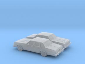 1/160 2X 1977 Oldsmobile Delta 88 Sedan in Smooth Fine Detail Plastic