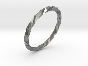 Twistium - Bracelet P=190mm in Raw Silver