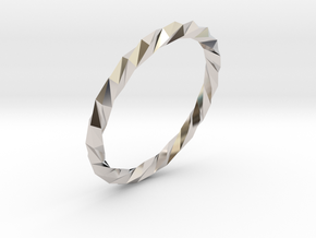 Twistium - Bracelet P=190mm in Rhodium Plated Brass