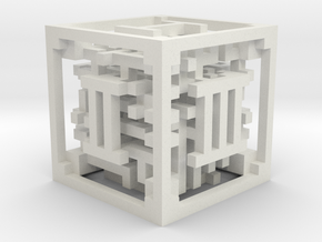 Maze Dice in White Natural Versatile Plastic