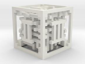 Maze Dice in White Natural Versatile Plastic