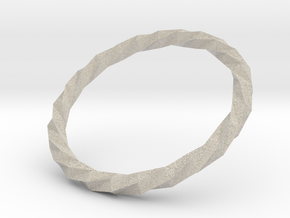 Twistium - Bracelet P=210mm in Natural Sandstone