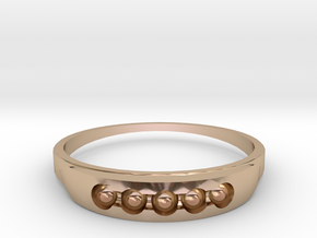 ring 2 in 14k Rose Gold Plated Brass