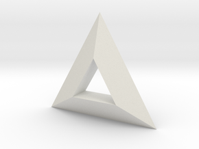 TriAngular in White Natural Versatile Plastic