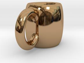 Coffee Mug in Polished Brass
