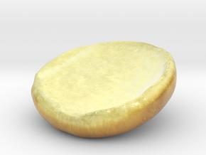 The Hamburger Bun-Heel-mini in Glossy Full Color Sandstone