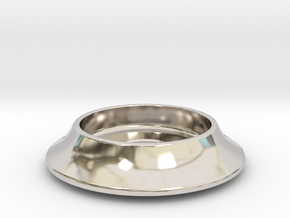 "Crater Bezel 5/16"" hole in Rhodium Plated Brass"