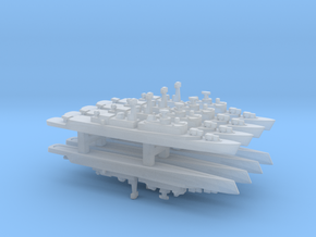 County Class Destroyer x 8, 1/6000 in Smooth Fine Detail Plastic