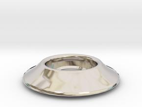 """1/4"""" Riser Washer in Rhodium Plated Brass"""