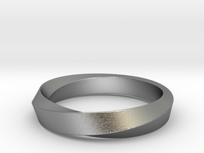 Mobius Narrow Ring (Size 6) in Natural Silver