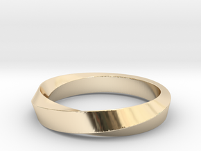Mobius Narrow Ring I (Size 6) in 14K Yellow Gold