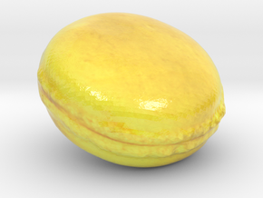 The Lemon Macaron-mini in Glossy Full Color Sandstone