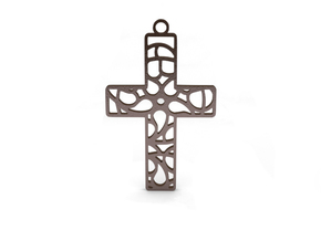 Cross in Polished Bronze Steel