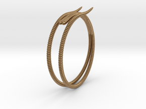"""Life of a worm"" Part 2 - ""Soil mates"" bracelet in Natural Brass: Medium"