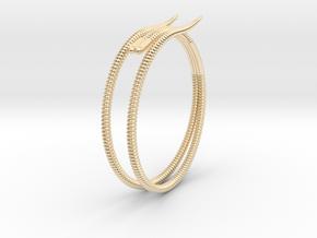 "b. ""Life of a worm"" Part 2 - ""Soil mates"" bracele in 14K Yellow Gold: Medium"