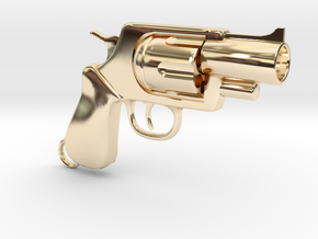 Revolver pendant in 14K Yellow Gold