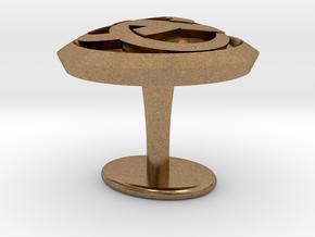 Ring cuflink in Natural Brass