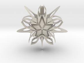 Devious Star Pendant v1 in Natural Sandstone