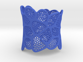 Double Voronoi Bracelet (v2) in Blue Strong & Flexible Polished