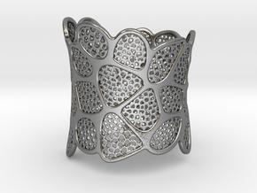 Double Voronoi Bracelet (v2) in Polished Silver