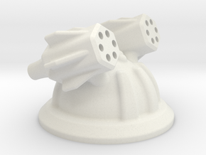 Missile / Gun Tower in White Natural Versatile Plastic