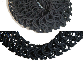 Knight's_Necklace_1 in Black Natural Versatile Plastic